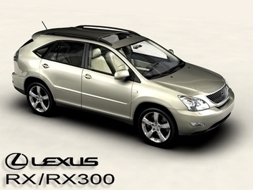 lexus rx300 2004 3d model 3ds max obj 81595