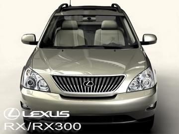 lexus rx300 2004 3d model 3ds max obj 81597