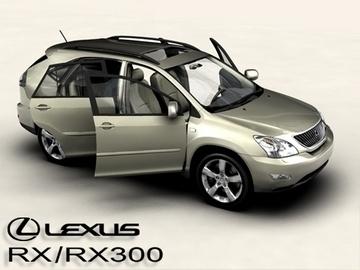 lexus rx300 2004 3d model 3ds max obj 81598