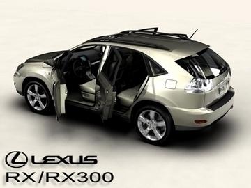 lexus rx300 2004 3d model 3ds max obj 81599