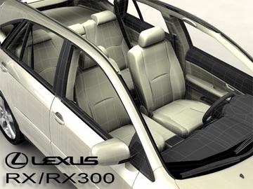 lexus rx300 2004 3d model 3ds max obj 81600