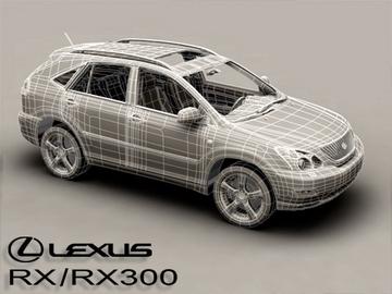 lexus rx300 2004 3d model 3ds max obj 81602