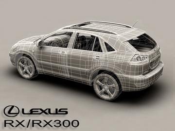 lexus rx300 2004 3d model 3ds max obj 81603