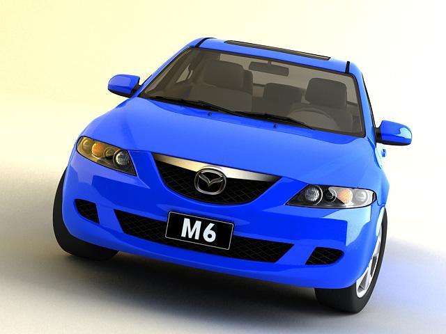 mazda 6 – 2006 3d model 3ds max obj 124721