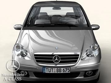 mercedes a class 2005 3d model 3ds max obj 81606