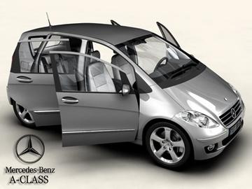 mercedes a class 2005 3d model 3ds max obj 81607