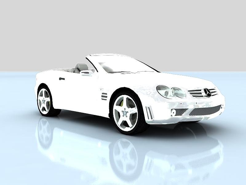 mercedes-benz amg sl65 v12 biturbo 3d model max 147846