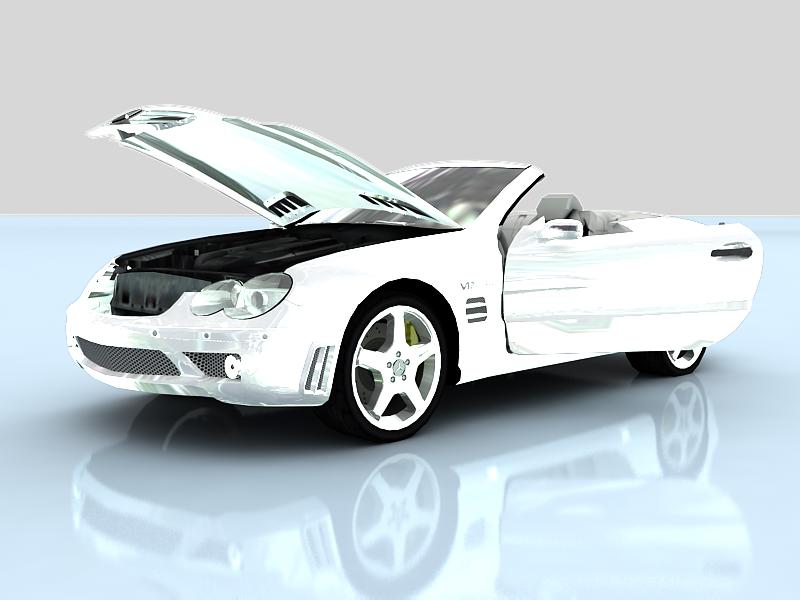 Mercedes benz amg sl65 v12 biturbo 3d model buy mercedes for Mercedes benz amg v12 biturbo