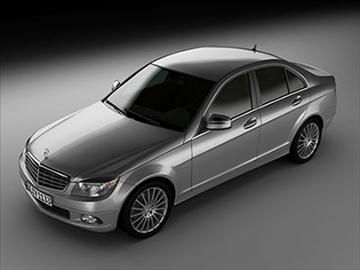 mercedes c class 2008 – elegance line 3d model 3ds lwo ma mb obj 85916