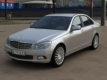 mercedes c class 2008 – elegance line 3d model 3ds lwo ma mb obj 85921