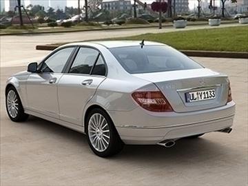 mercedes c class 2008 – elegance line 3d model 3ds lwo ma mb obj 85922
