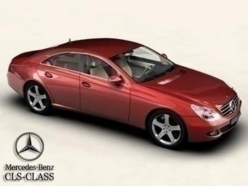 mercedes cls class 3d model 3ds max obj 81632