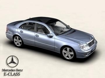mercedes e class 3d model 3ds max obj 81641