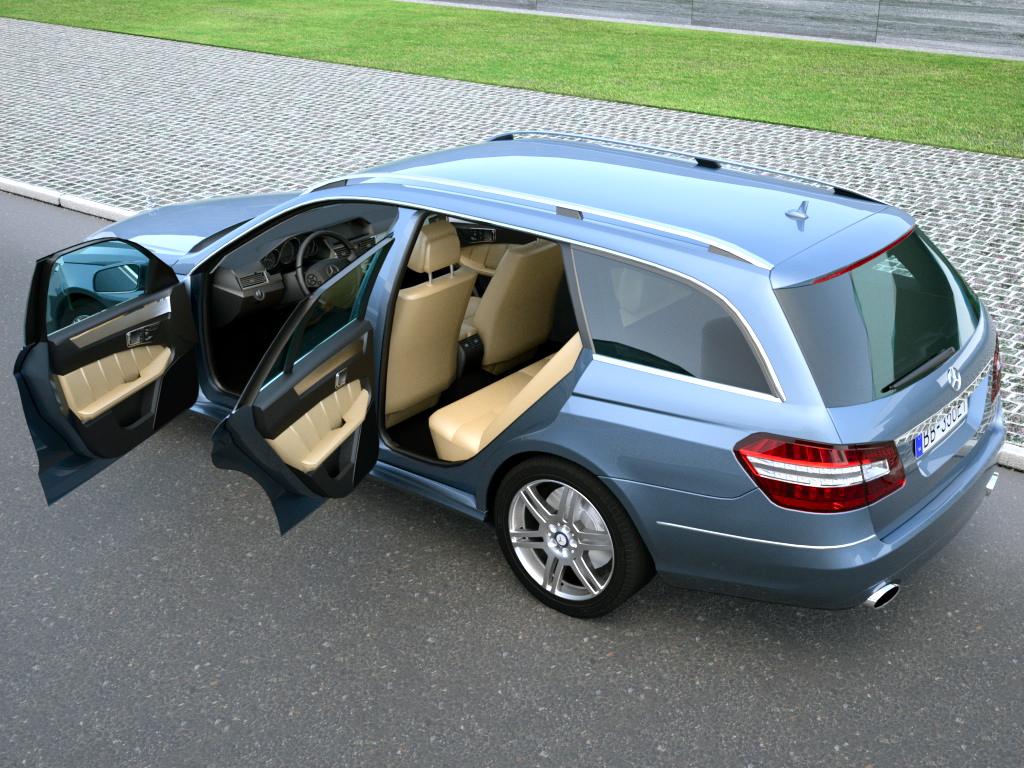 mercedes e class t modell (2010) 3d model 3ds max fbx c4d obj 98654