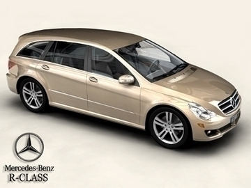 mercedes r klasa 3d model 3ds max obj 81650