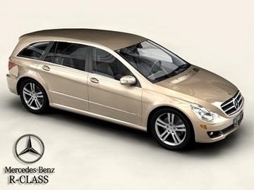 mercedes r class 3d model 3ds max obj 81650