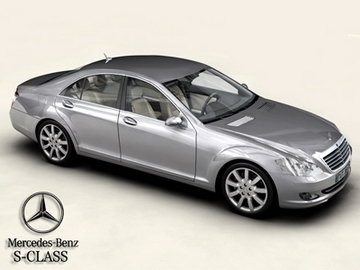 mercedes s class 2006 3d model 3ds max obj 81665