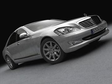 mercedes s class 2006 3d model 3ds lwo ma mb obj 85926