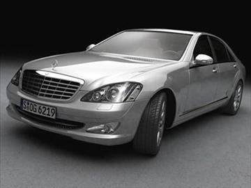 mercedes s class 2006 3d model 3ds lwo ma mb obj 85927