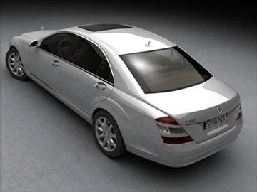 mercedes s class 2006 3d model 3ds lwo ma mb obj 85928