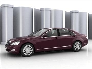 mercedes s class 2006 3d model 3ds lwo ma mb obj 85929