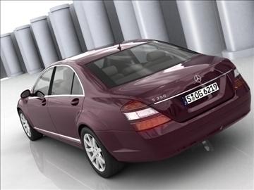 mercedes s class 2006 3d model 3ds lwo ma mb obj 85930