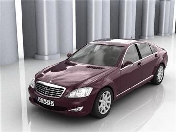 mercedes s class 2006 3d model 3ds lwo ma mb obj 85931
