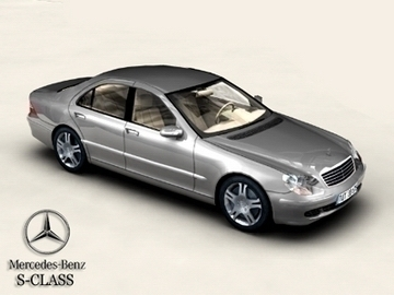 mercedes s-dosbarth model 3d 3ds max obj 81659