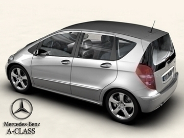 mercedes a class 2005 3d model buy mercedes a class 2005 3d model flatpyramid. Black Bedroom Furniture Sets. Home Design Ideas
