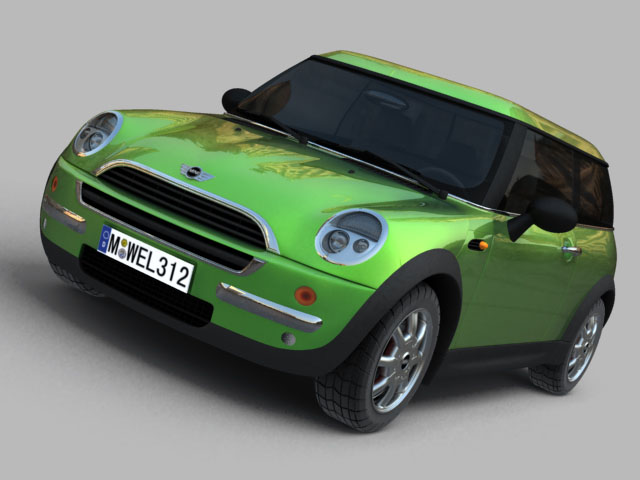 mini cooper car 3d model 3ds max obj 124727