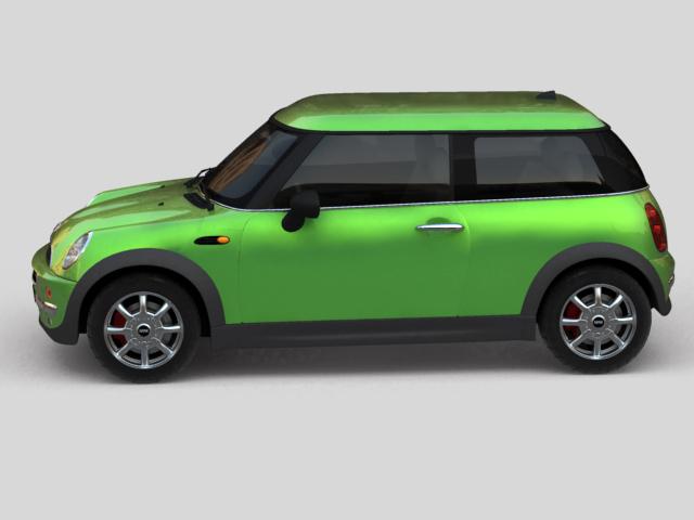 mini cooper car 3d model 3ds max obj 124728