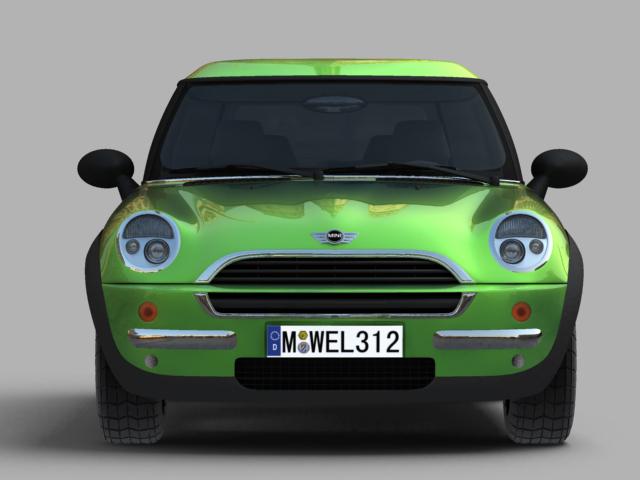 mini cooper car 3d model 3ds max obj 124729
