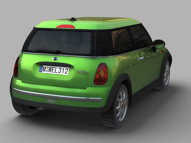mini cooper car 3d model 3ds max obj 124730