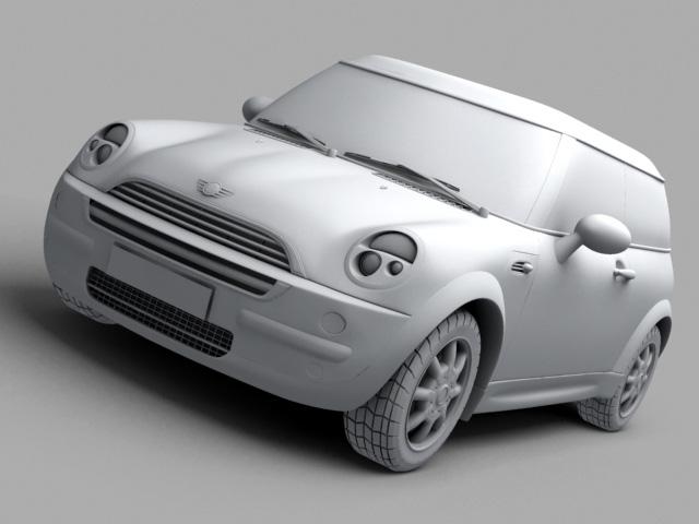 mini cooper car 3d model 3ds max obj 124731