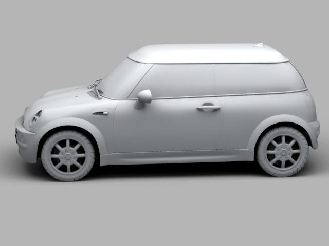 mini cooper car 3d model 3ds max obj 124732