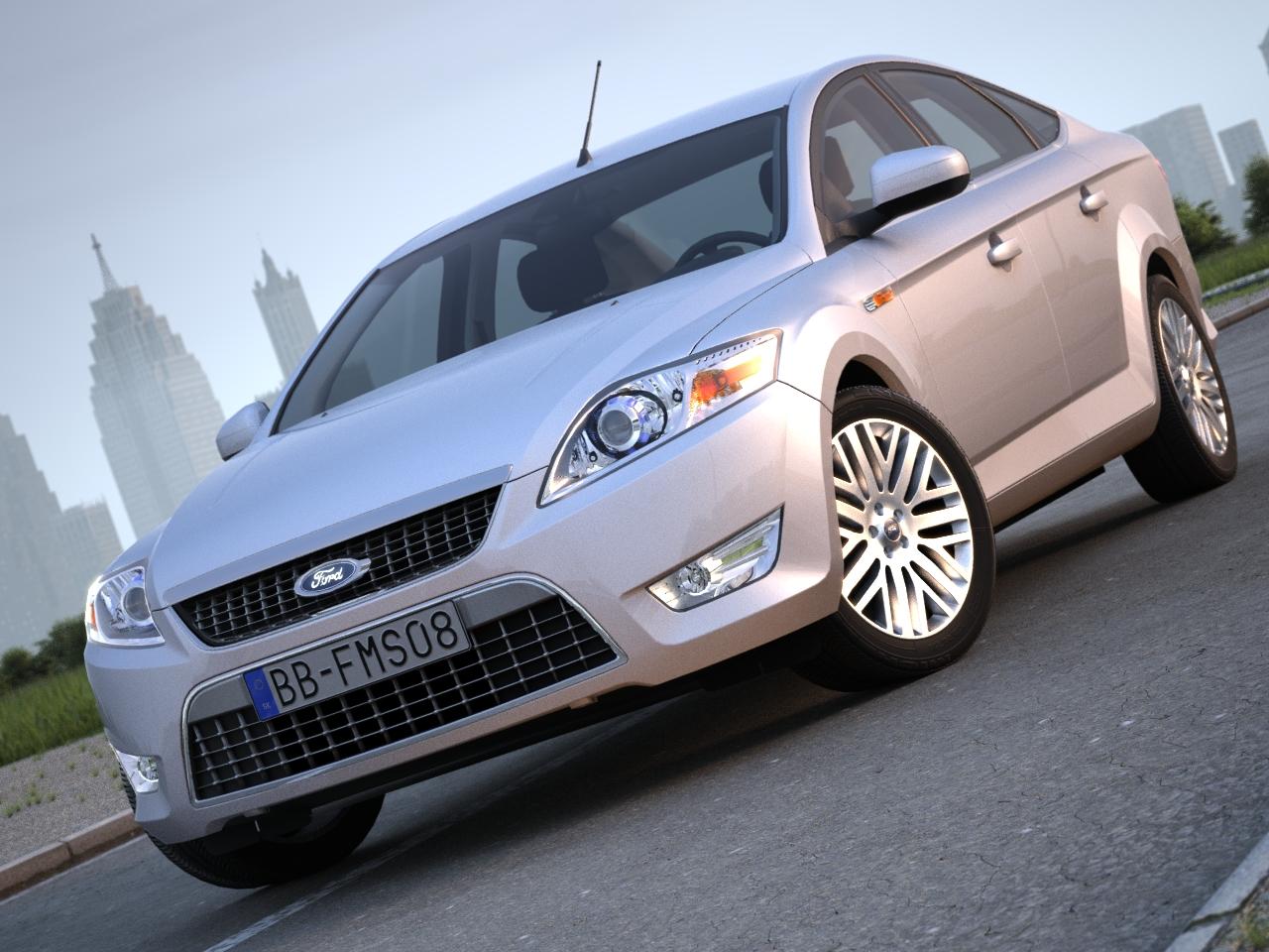 mondeo sedan (2009) 3d model 3ds max fbx c4d obj 88618