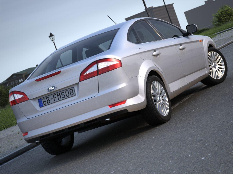 mondeo sedan (2009) 3d model 3ds max fbx c4d obj 88619