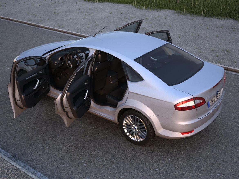 mondeo sedan (2009) 3d model 3ds max fbx c4d obj 88624