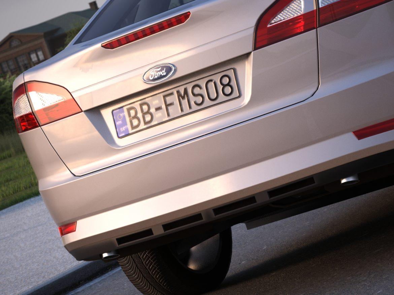 mondeo sedan (2009) 3d model 3ds max fbx c4d obj 88629