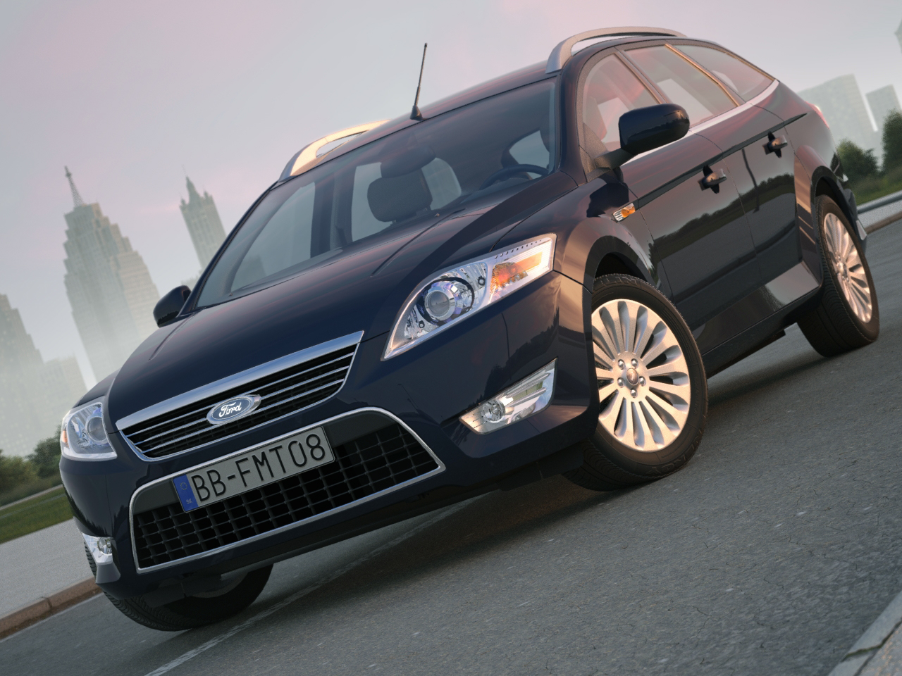 mondeo turnier (2009) 3d model 3ds max fbx c4d obj 106096
