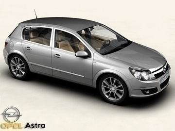 opel astra 3d model 3ds max obj 81728