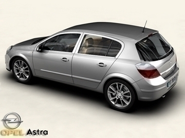 opel astra 3d model 3ds max obj 81729