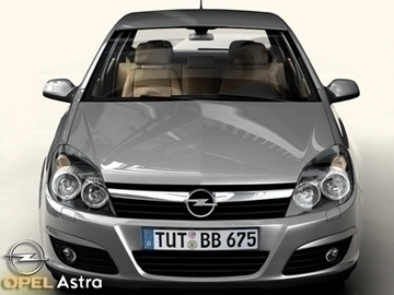 opel astra 3d model 3ds max obj 81730