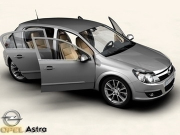 opel astra 3d model 3ds max obj 81731