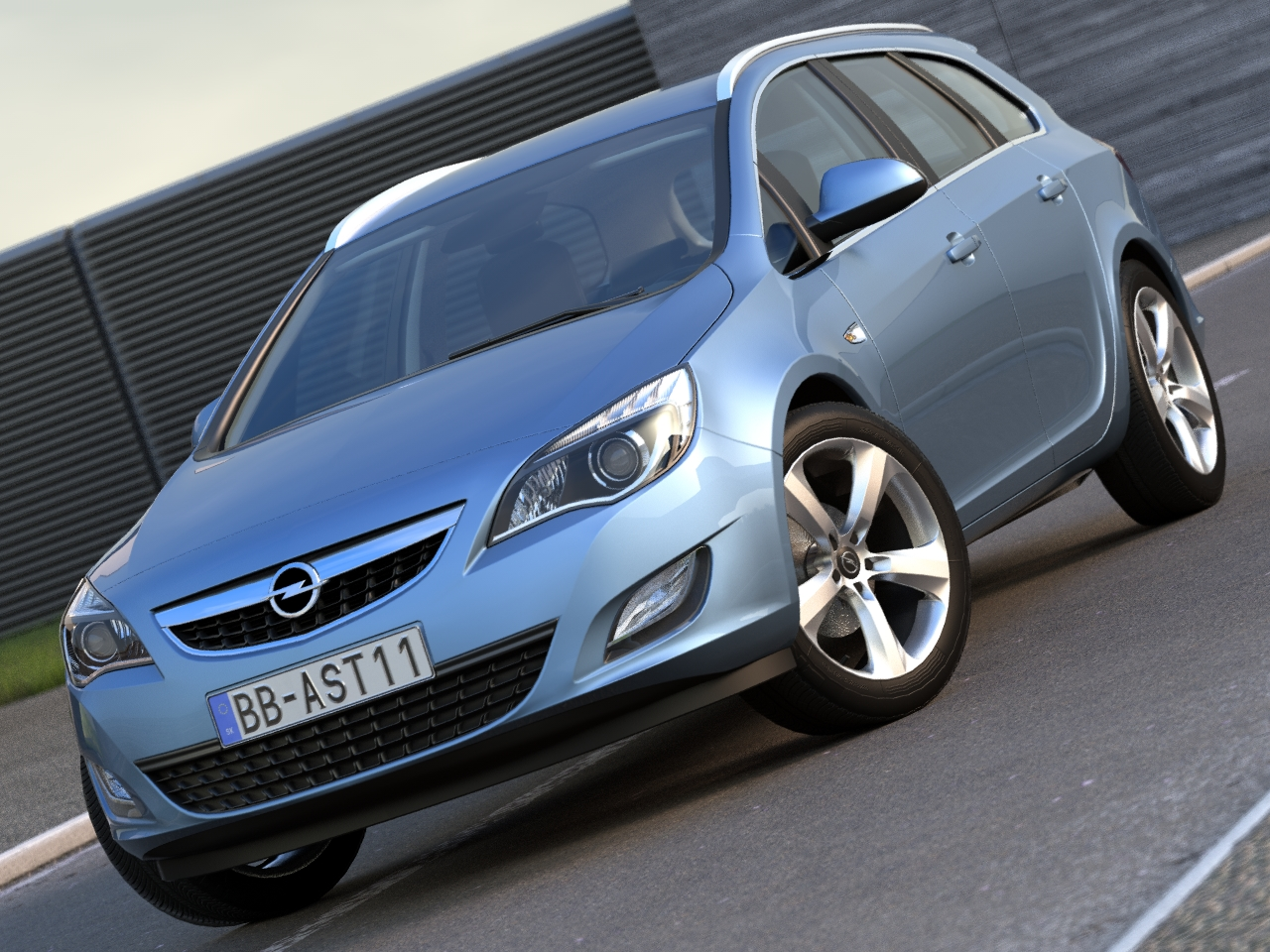 opel astra sports tourer (2011) 3d model 3ds max fbx c4d obj 107341