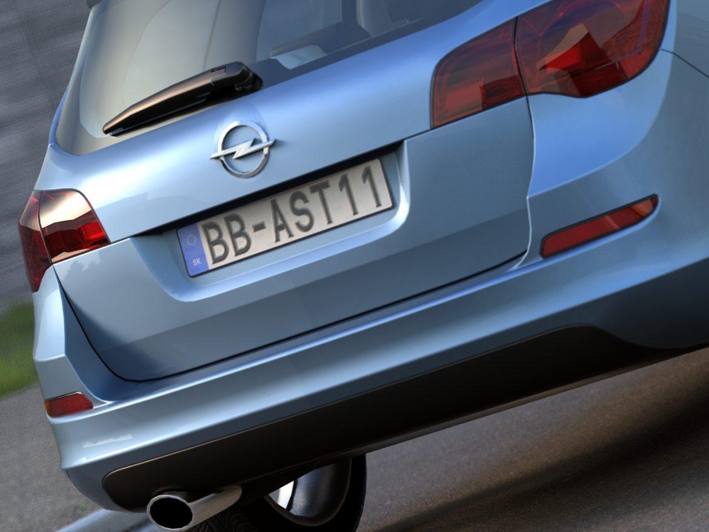 opel astra sports tourer (2011) 3d model 3ds max fbx c4d obj 107352