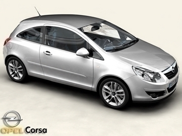 opel corsa 3d model 3ds max obj 81737