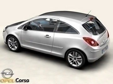 Opel corsa 3d líkan 3ds max obj 81738