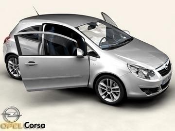 Opel Corsa 3D Model - FlatPyramid
