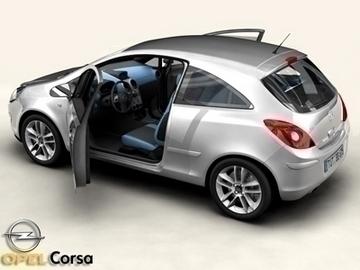Opel corsa 3d líkan 3ds max obj 81741